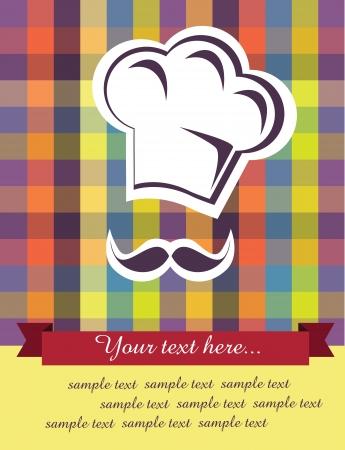 kitchen ware: menu card design illustration