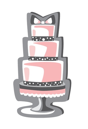 pink cake: cake Illustration