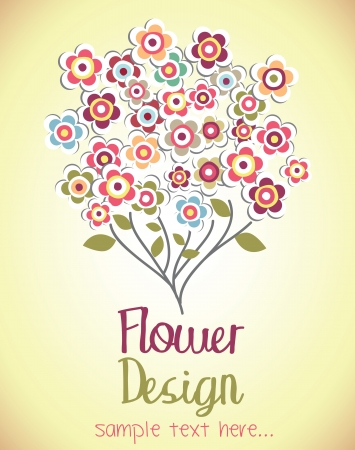 Cute bouquet of flowers  flower card  vector illustration Vector