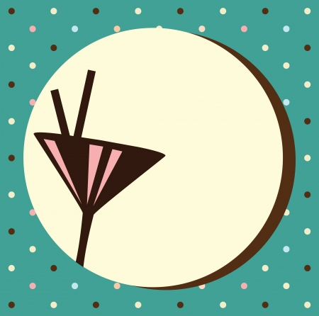 Uitnodiging Vintage Cocktail Party, sjabloon