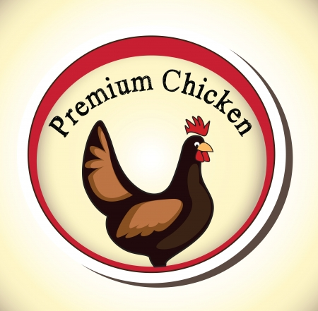 retro chicken sign,label Vector
