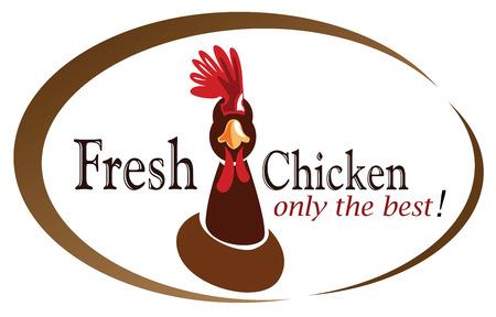 retro chicken sign,label