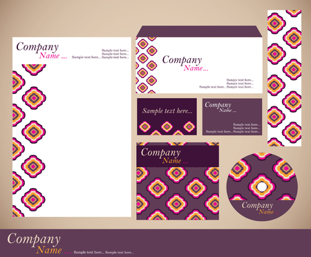 letter head: Corporate identity kit or business kit with artistic, abstract floral element for your business includes CD Cover, Business Card, Envelope and Letter Head Designs