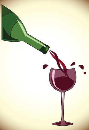 red wine pouring: Pouring wine concept