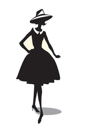 Fancy vintage silhouette