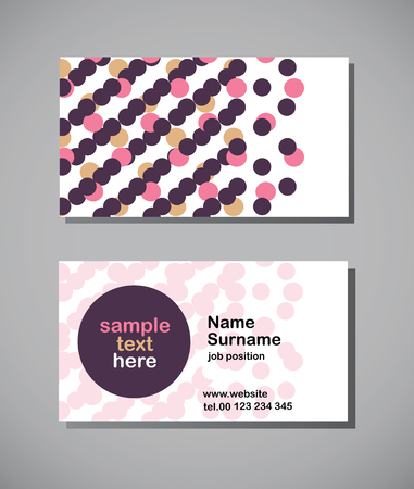 business card with dots, vector illustration Vector