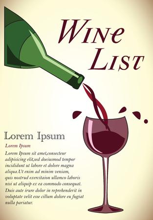 ワイン リストのデザイン