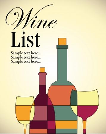 Wine list design Иллюстрация