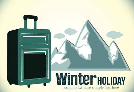 driving range: Winter trip poster