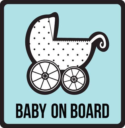 advisory: Baby on board sign Stock Photo