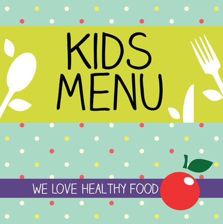 Kids Menu Card Design template  photo
