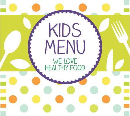 Kids Menu Card Design template  Stok Fotoğraf