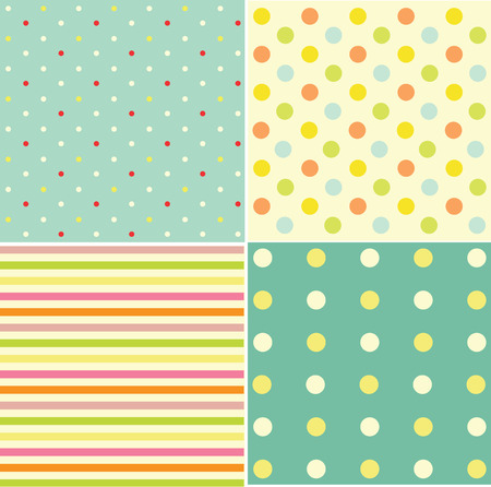 backround: Seamless retro inspired youthful polka dot pattern in candy colors
