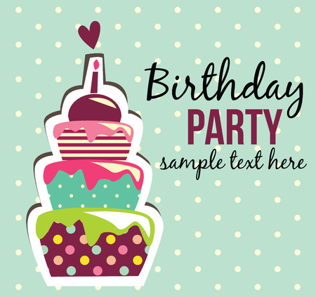 first birthday: birthday cake card Stock Photo