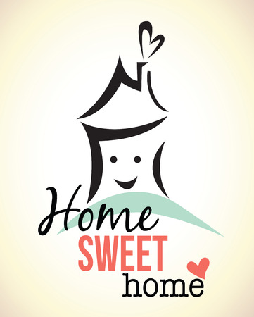 home deco: home sweet home  vector illustration Stock Photo