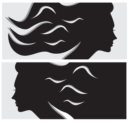 Hairstyle horizontal banners photo