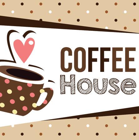 coffee house: coffee house Illustration