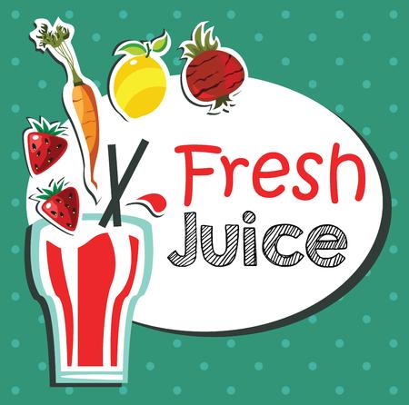 fresh juice illustration