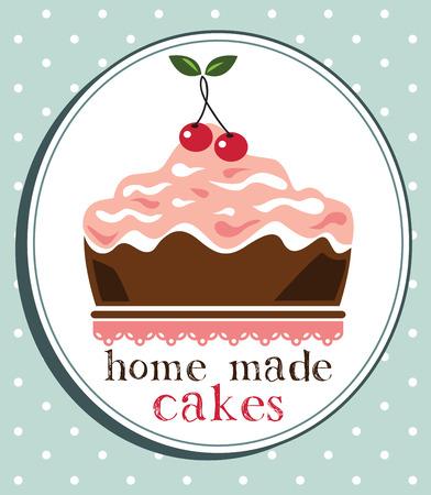 homemade cake: Cake design,home made cake Illustration