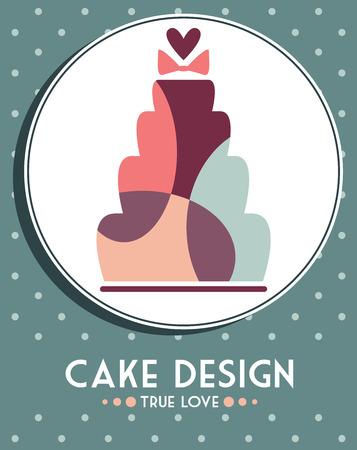 desig: cake desig card Illustration