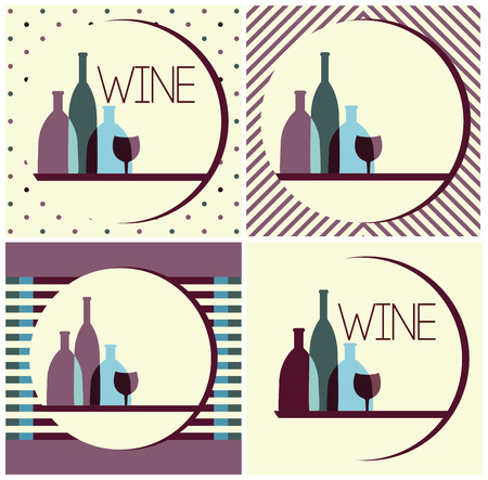 wine bottles: wine bottles,wine design Illustration