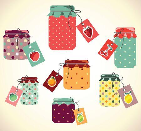 preserve: Cute Jars Illustration