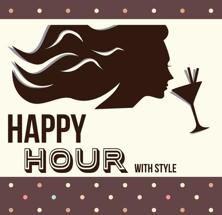 liquor girl: happy hour Illustration