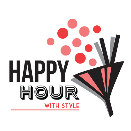 happy hour  イラスト・ベクター素材