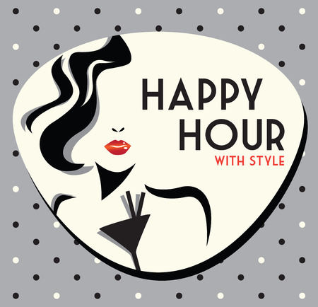 hour glass: happy hour Illustration