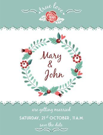 Feier: Hochzeit Einladung Illustration