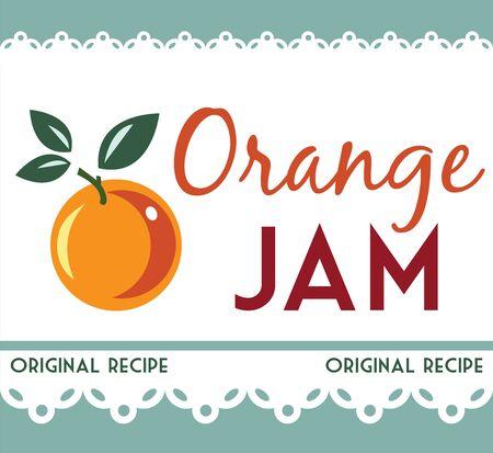 mermelada: naranja etiqueta de mermelada