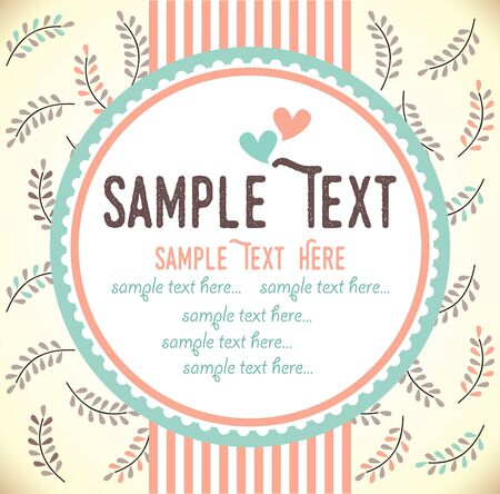 wedding gift: Template frame design for greeting card