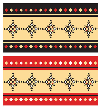 serbia: Eastern Folk pattern Illustration