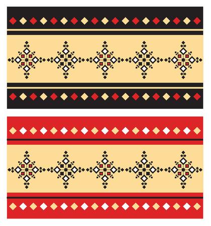 bulgaria: Eastern Folk pattern Illustration