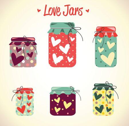 love hearts: Love hearts,mason. jars