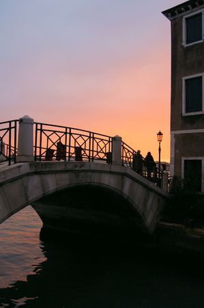 Beautiful Venetian bridge photo
