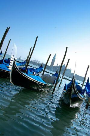 Gondolas in Venice Stock Photo - 6051077