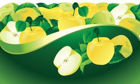 yellow apple:  fresh yellow apple Illustration