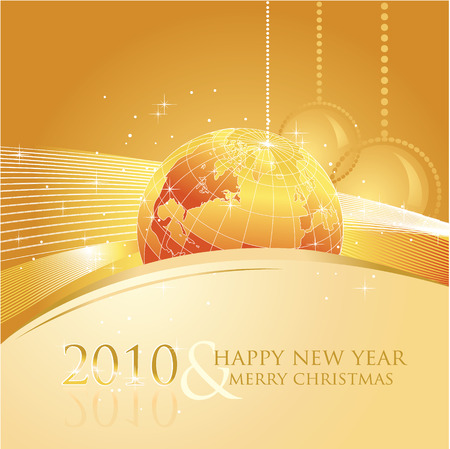 motive: 2010 new year greeting card with business motive