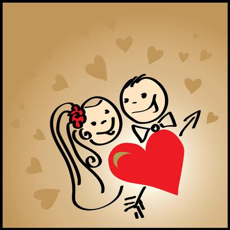 Love, Valentines background  Vector