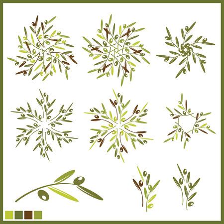 Design elements with olives Illustration
