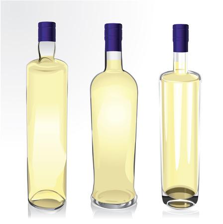 realistic vector bottles of spirit 矢量图片