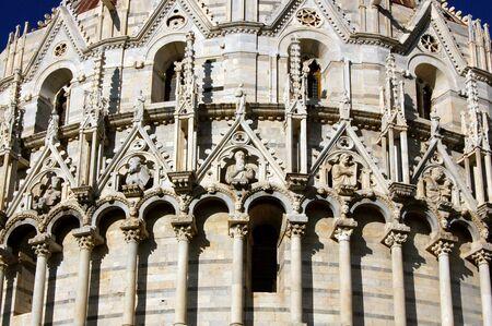 Pisa baptistery detail, Italy photo