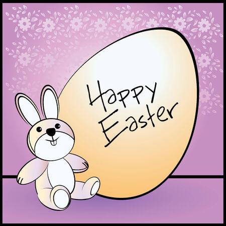 Easter Egg for Easter holiday celebration with a cute bunny Vector
