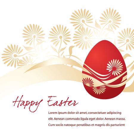 Elegant Egg for Easter holiday celebration Vector