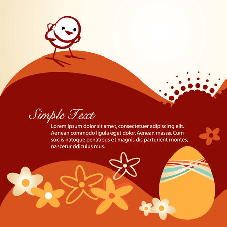 Chicken and Egg for Easter holiday celebration Vector
