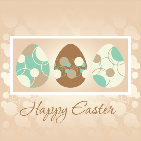Easter greeting card with Easter eggs Vector