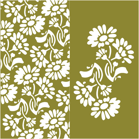 Vector beautiful abstract floral background Vector