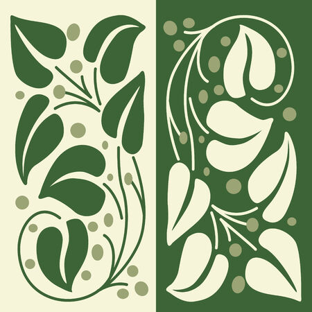 Nature. Seamless background, leaves and branch Stock Vector - 6332106