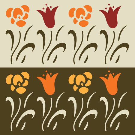 Set of floral vector elements, lily Vector